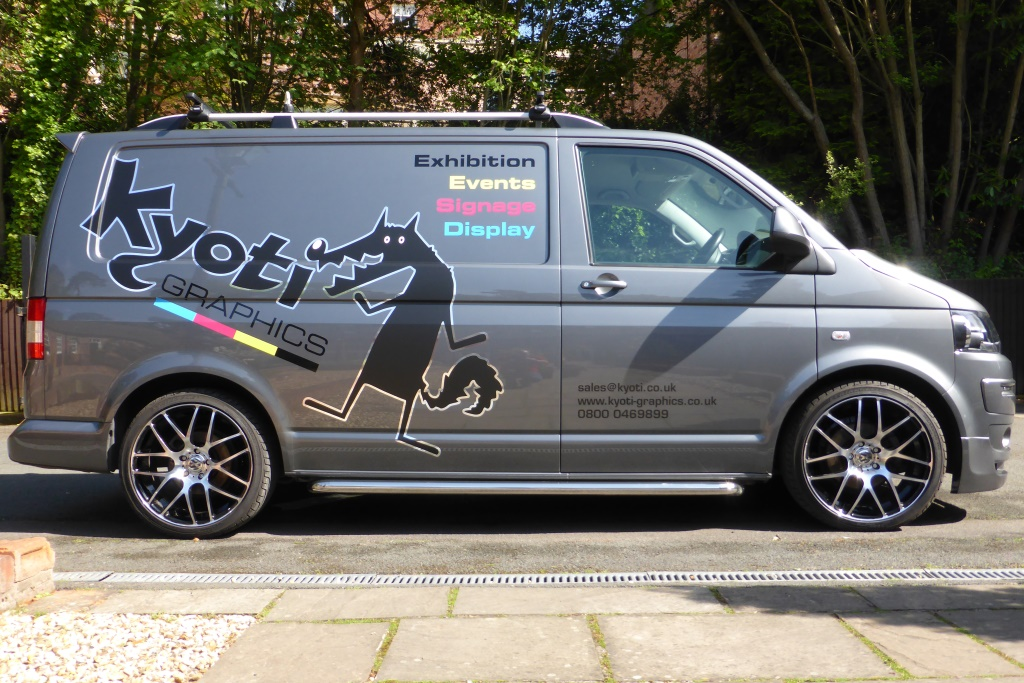 Kyoti van after vehicle graphics