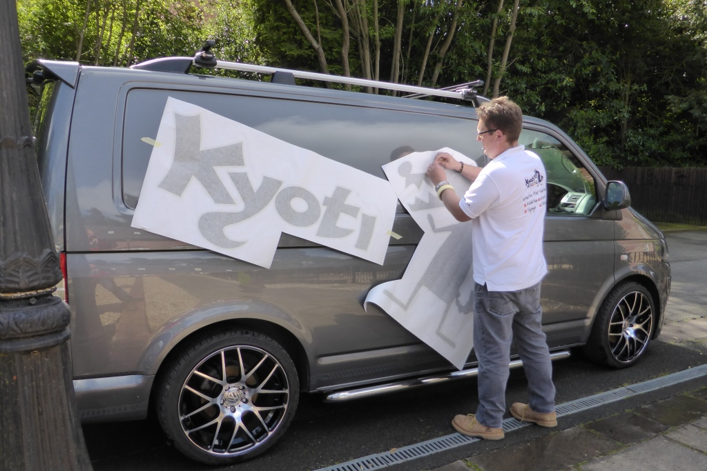 Kyoti van vehicle graphics stage 1