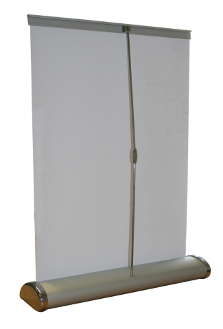Breeze Desk Top Roll Up Banner rear view